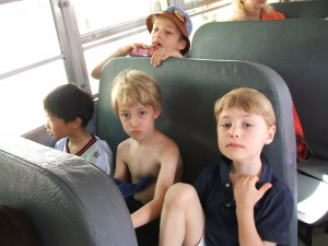 kids on a bus